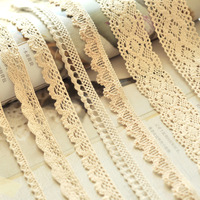 Laciness beige book white bleach cotton lace laciness clothes accessories handmade patchwork fabric