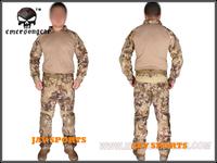 Emerson G2 Combat Shirt & Pants Suit BDU Uniform Highlander Camo With Pads+Free shipping(SKU12050211)