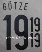 #19 GOTZE  Germany Home 2014 Print  Name , World Cup 2014.Star Name sets ,Print by yourself.accept custom name