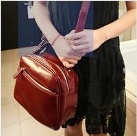2013 women's winter handbag brief classic all-match PU zipper women's bags messenger bag
