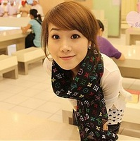Free shipping 2 pieces/lot woman's Letter Polyester chiffon silk scarf spring summer