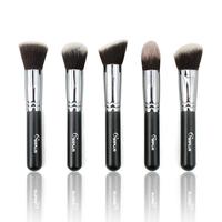 Sixplus 5 pieces/lot professional make up pinceis kabuki brush to face high quality cosmetic powder brush kits