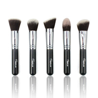 Sixplus 5 pieces/lot professional make up pinceis kabuki brush to face high quality cosmetic powder brush kits