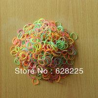 5pack/lot 2014 Hot Loom Kit colorful Rubber Loom Bands Kit Refill Pack 600pcs Noctilucent Bands+24pcs S-clips bracelet