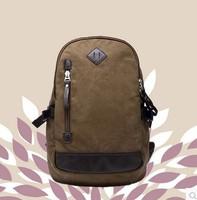 Canvas bag male commercial backpack  school large capacity laptop bag  Knapsack Laptop