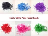 15pack/lot 2014 hot Loom Kit colorful Rubber Loom Bands Refill Pack 600pcs Bands+24pcs S-clips gift bracelet
