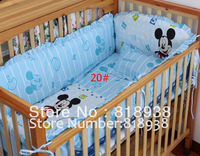 Winter Baby crib bedding set in cot bed set bedclothes Thick Fleece baby 5pcs set with Christmas Animal