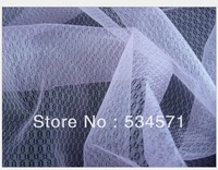 new hot 5 yard/lot white print Encryption mesh fabric prismatic,For DIY wedding dress or veil,party decoration,cloth, wall cloth