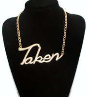 Fashion coarse chain measurement ultralarge taken letter necklace accessories