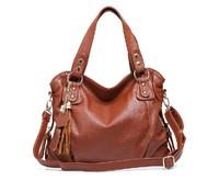 Genuine leather bag 2013 fashion shoulder bags tassel tote bags women handbag designer brand CHISPAULO bolsas femininas
