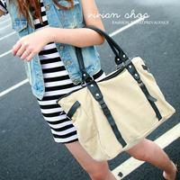 Vivian 2013 female canvas bag handbag casual one shoulder vintage motorcycle bag messenger bag 620