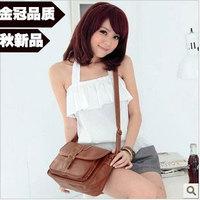 2013 autumn vintage fashion messenger bag leather bag small clamshell messenger bag female bags