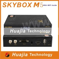 Original Skybox M5 1080P Full HD satellite receiver with Wifi inside, Support Network EPG, upgrade from M3, free shipping