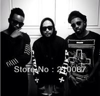 Hitz 2013 Hip-hop  Sad girl cross KTZ PYREX  pullover hooded mens Sweatshirt