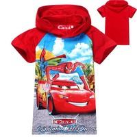 NEW 2014 spider-man Cars fashion children's wear baby boys sweater Kids hoodies cartoon children clothing short sleeve t shirts