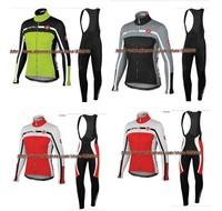 sports wear! 2014 Castelli Winter Thermal Fleece Cycling Jersey Long Sleeve and bicicleta bib Pants/ ciclismo bicicletas