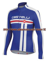 outdoor fun & sports!!2013 Castelli Winter Thermal Fleece Cycling Jersey bicicleta Long Sleeve ropa ciclismo maillot !!