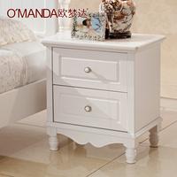 Furniture fashion bedside cabinet solid wood cabinet storage cabinet storage cabinet white brief cabinet 1