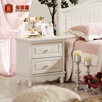 Brief drawer storage bedside cabinet small bedside cabinet white solid wood bedside cabinet