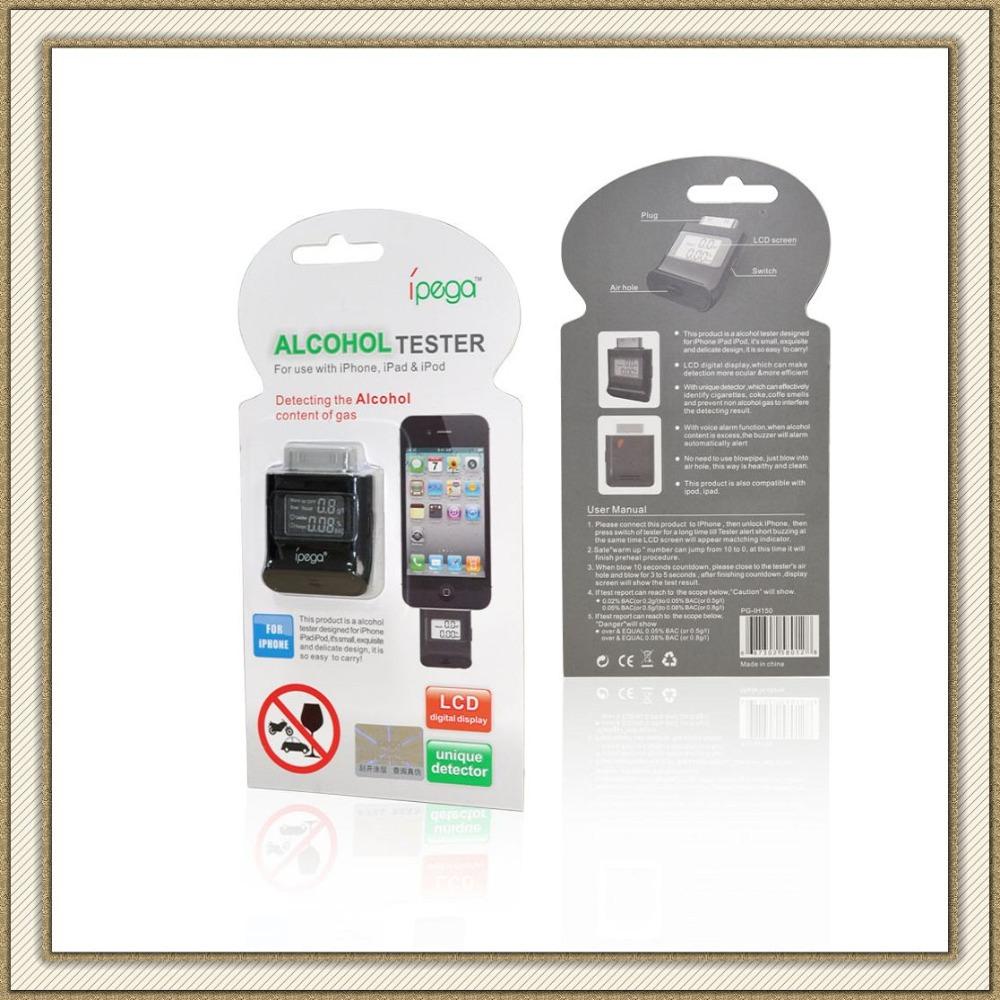 DHL 50pcs/lot iPega PG-IH150 Digital LCD Display Alcohol Tester Analyser Breathalyser For iPhone 4 4S iPad iPod Wholesale(China (Mainland))