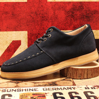 Winter fashion trend of the 2013 men's popular cowhide shoes low-top casual shoes skateboarding shoes