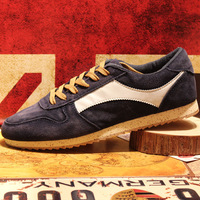 Autumn fashion cowhide male casual shoes the trend of low male shoes suede cowhide single shoes skateboarding shoes
