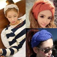 1Pc New Crochet Twist Knitted Headwrap Headband Winter Warmer Hair Band 10 Colors U Pick Fashion hair jewelry