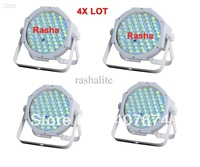 4X LOT 4in1 144*10mm B-A-T-T-E-R-Y Powered LED Par64,Mea Par Can,American DJ Light For Event
