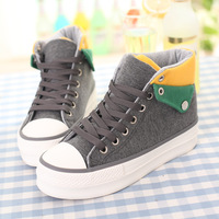 Canvas shoes 2013 belle is older autumn and winter female high-top platform shoes platform shoes elevator shoes casual shoes