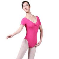 A dance supplies adult short-sleeve one piece ballet hypertensiveperson clothing short-sleeve