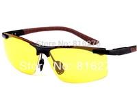 Night vision goggles aluminum magnesium alloy Driving Fishing glasses Night Vision Polarized Sunglasses