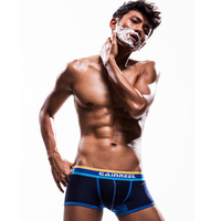 Song riel sexy sports casual male personality color block panties trunk shorts