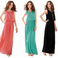 New 2014 vestidos Fashion Women Dresses Brand Summer Dress Casual Bohemian Maxi Long Beach Dress Plus Size Saia , Free Shipping