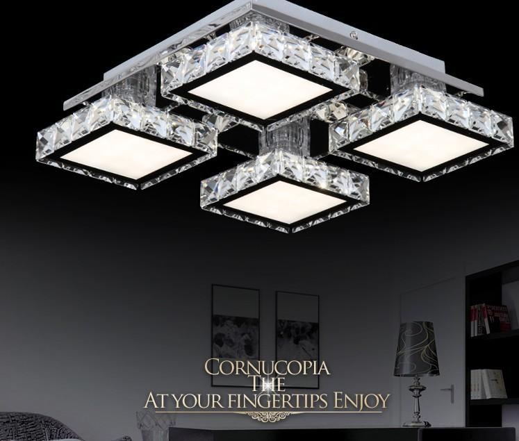 New minimalist modern bedroom living room lamp crystal lamp lighting LED Lighting Ceiling Decoration main material shipping(China (Mainland))
