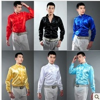 Men's clothing male shirt long-sleeve shirt lotus leaf costume laciness shirt