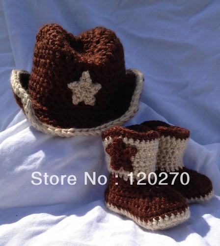 Versandkostenfrei häkeln cowboys <b>baby</b> <b>star</b> hut + stiefel schuhe ...