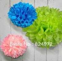 Wholesale 2000pcs paper flower ball 30cm(12 inch) Tissue paper pom poms Craft Paper Flower Decoration for wedding flower