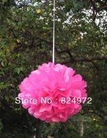 Wholesale 10,000pcs paper flower ball 30cm(12 inch) Tissue paper pom poms Craft Paper Flower Decoration for wedding flower