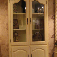 Beech solid wood bookcase glass door fashion american style furniture quality rustic furniture