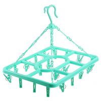 JJJ-E9932 Bold Thick Plastic Hangers Racks Underwear Socks Drying Rack