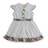 Clearance New 2014 Summer Baby Girl Dress Brand Children Clothing White Girl's Plaid Dresses Designer Cheap Kids Clothes