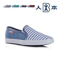 2014 vintage navy style strip fashion woman  shoes women's casual canvas shoes 4 color 35-39