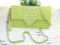 Rivet PU bags rivets pu women ladies wallets purses bags