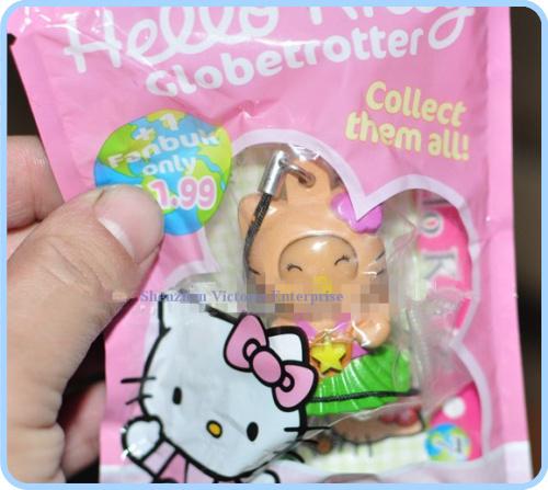 40PCS Kawaii Hello Kitty Face Change DOLL Mini 4CM Pendant Cell Mobile Phone Charm Strap Pendant Lanyard DOLL BAG Key Chain(China (Mainland))