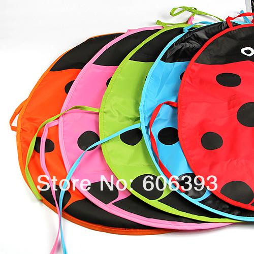Hotsell New Cute Ladybug Kids Kitchen Garden Fabric Craft Apron Lovely Child Waterproof Pinafore Free Shipping(China (Mainland))