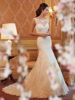 Free Shipping Wedding Dress White/ivory Organza Mermaid/Trumpet Sexy Bridal Gown