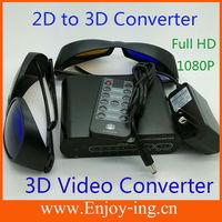 1080p HDMI 2D to 3D Converter Switcher HD Converter Signal 3D Video Converter Box Full HD+2 pairs 3D Glasses+Remote Controller