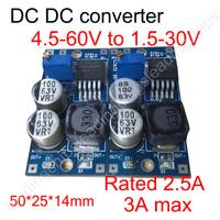 (dc-dc converter step down)  4.5v-60v to 1.5v-30v 2.5A step-down adjustable power supply module LM2596