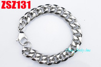 10mm The circular arc shape 316L stainless steel hand catenary distortion chains punk bracelet fashion Jewelry men's ZSZ131