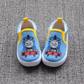 Wholesales 2014 Spring New Thomas Train Children's Boy Girls slip on Canvas baby boy shoes First Walker baby girl shoe(China (Mainland))